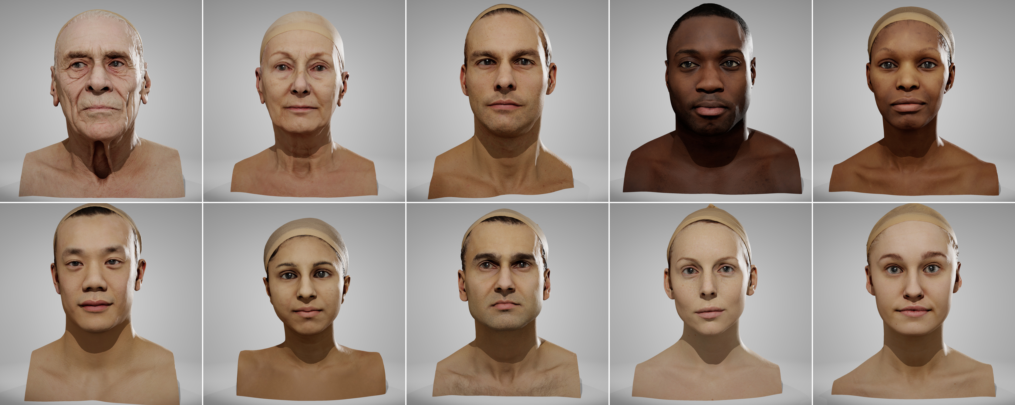 Neutral Heads Pack 01 | Anatomy 360