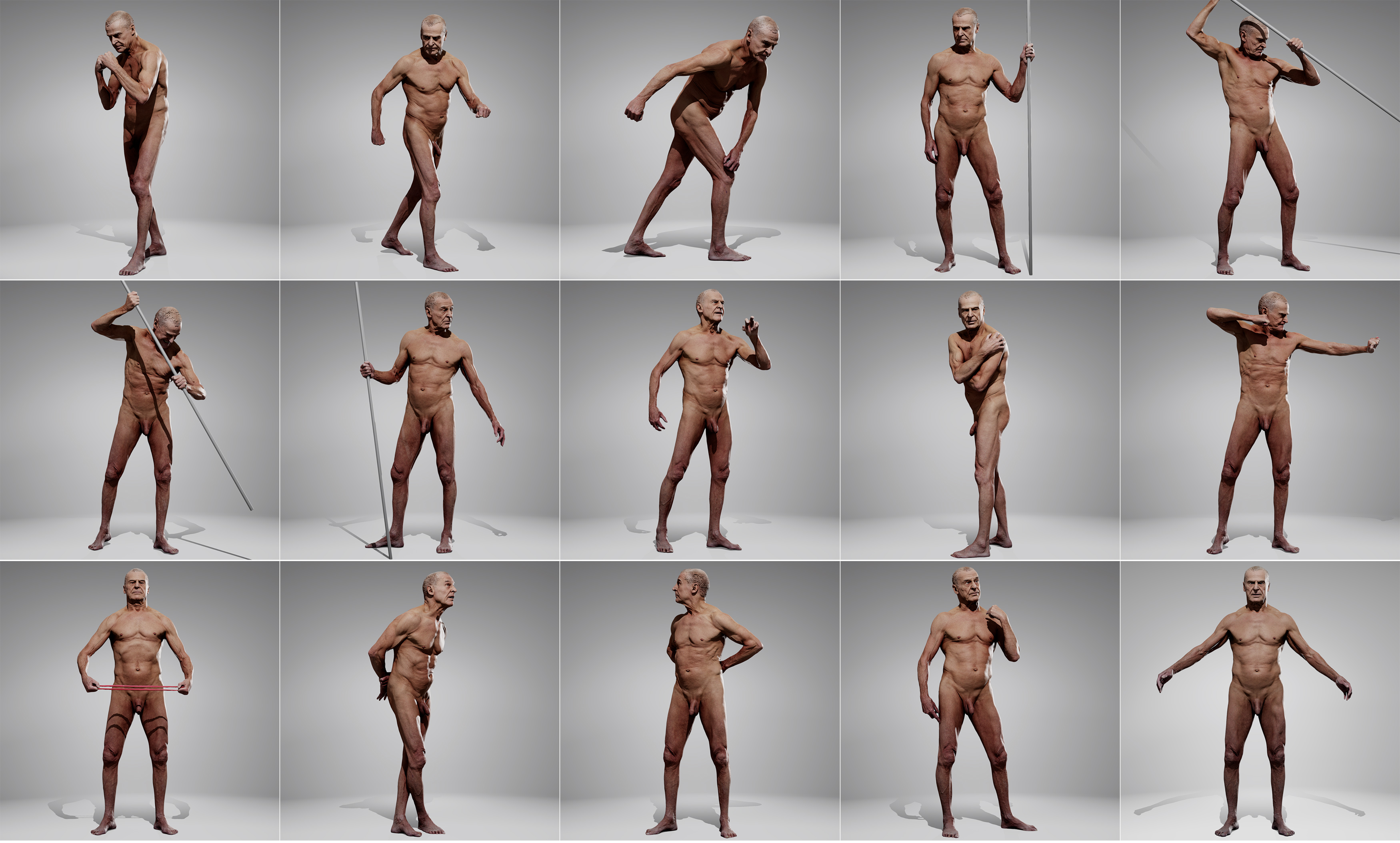 Male 02 Pose Pack | Anatomy 360