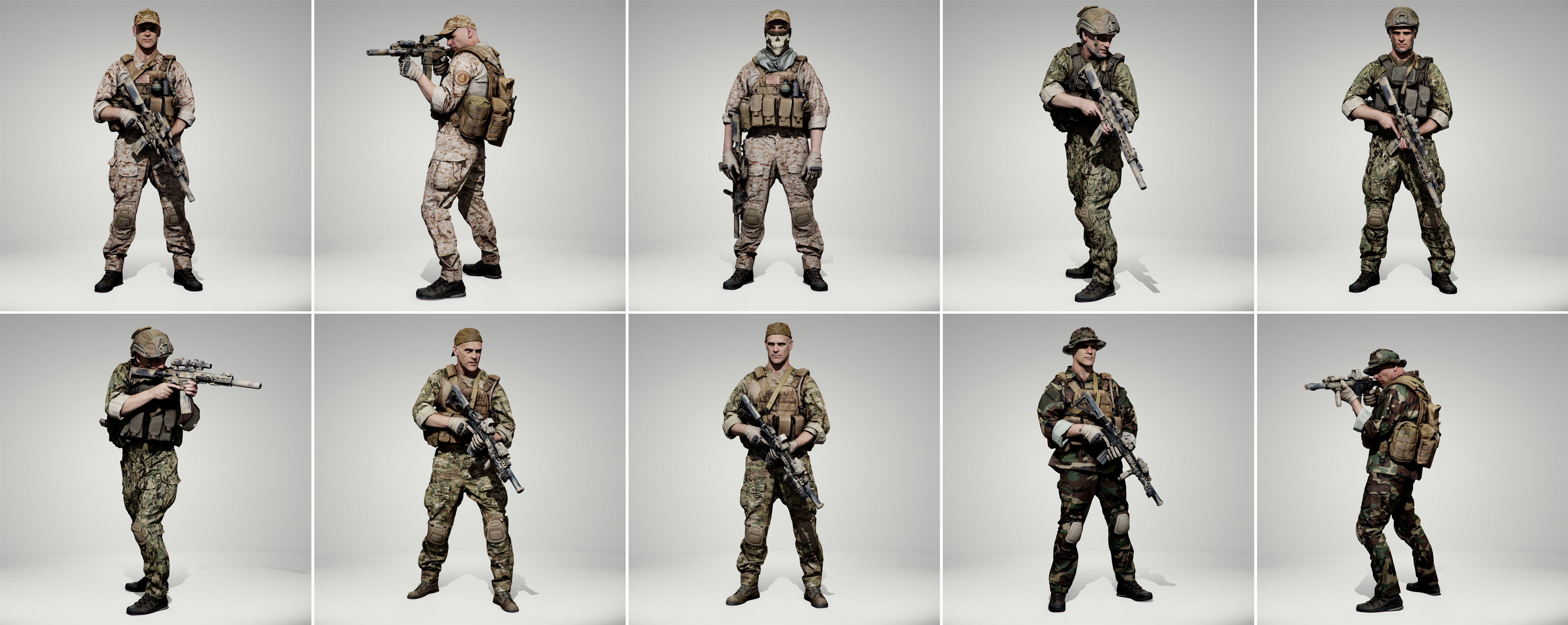 Soldier Pose Pack - Anatomy 360
