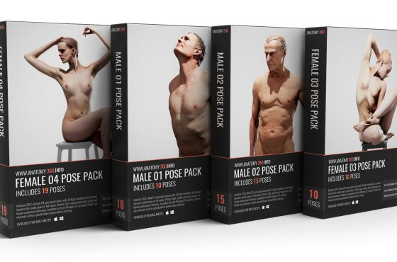 New 10 x Male and Female Neutral Head Pack - Anatomy 360