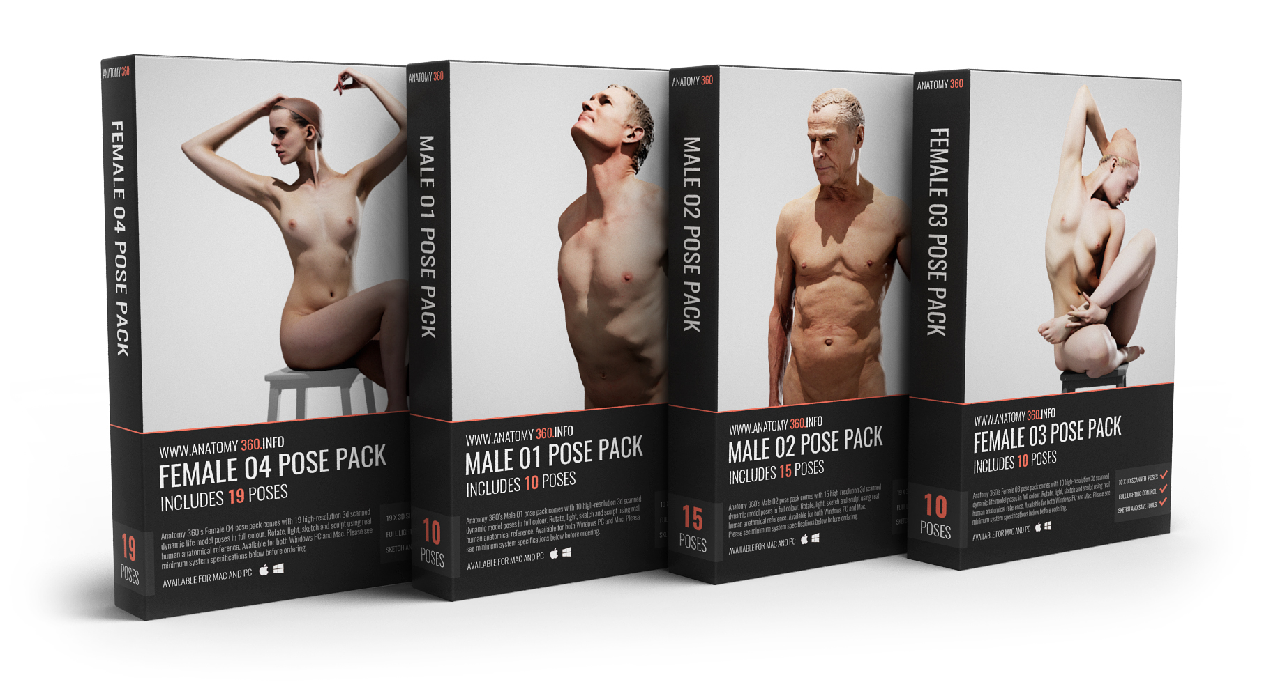 3d Reference Models For Artists Anatomy 360 3d Models